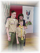 New Eagle Scout Steve with Father